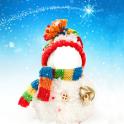 boneco de neve natal montage