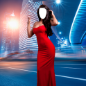 Woman Long Dress Photo Montage