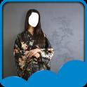 japanischen Kimono Fotomontage