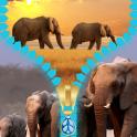 Elephant Zipper Lock Screen