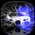 Supersportwagen 3D Hintergrund