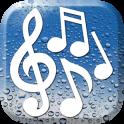 비는 소리 음악 소리 휴식