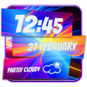 Neon Clock Weather Widget