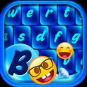 Blue Emoji Keyboard Themes