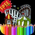 Coloring Book Amusement Park