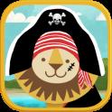 Piraten-Vorschulpuzzle - Gold