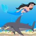 인어 상어 공격