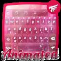 Pink glass Keyboard Animated