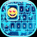 Neon Blue Emoji Keyboard