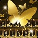 Gold Butterfly Shining Keyboard Theme