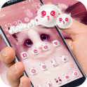 Cartoon pink cute Kitty theme