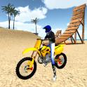 Motocross Playa 3D Saltando