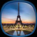 Nacht in Paris Hintergrund