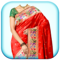 Woman Fancy Saree Photo Suit Montage