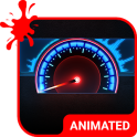 Speedometer Animated Keyboard + Live Wallpaper
