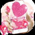 Pink Heart Glitter Keyboard Theme