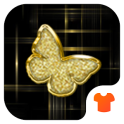 Gold Butterfly Theme for Android Free