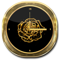Gold Rose Theme Clock