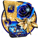 Luxury Blue Rose Keyboard Theme