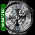 Brushed Silver HD Watch Face Widget Live Wallpaper