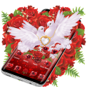 Red Rose Pigeon Heart Theme