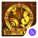 Round Steam Luxurious-APUS Launcher stylis theme