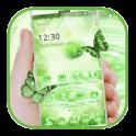 Green Glitter Lotus Theme