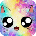 Galaxy Cute Kitty Sparkle Theme