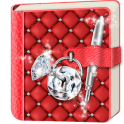Diamond Diary Book with Lock