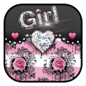 Rose Pink Diamonds Girl Theme
