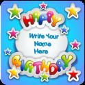 Name Photo On Birthday Cake Photo Frames
