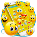 Happy Emoji launcher Theme