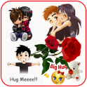 Hug Me Love Stickers & valentineday emoji