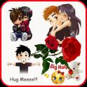 Hug Me Love Stickers & valentineday emoji