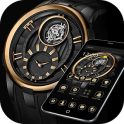 Gold Black Luxury Watch Theme