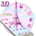 3D Pink Paris Eiffel Tower