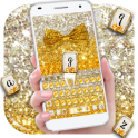 Gold glitter bowknot keyboard
