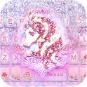 Glitter Unicorn Tema de teclado
