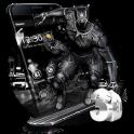3D Black Hero Theme