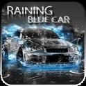 Raining Blue Car