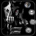 Devil Death Gun Skull Theme