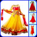 Anarkali Dress for Women Photo Suit Editor