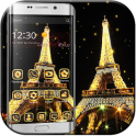 Gold paris tower Theme