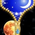 Moonlight Zipper Lock Screen