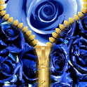 Blue Rose Zipper Lock Screen