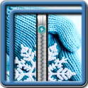 Zipper Lock Screen Snowflakes