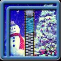 Zipper Lock Screen Snowman