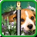 Puppy Zipper Lock Screen