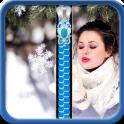 Winter Girl Zipper Lock Screen