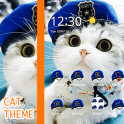 Cat Theme Blue Mantle of Uniformed Hat